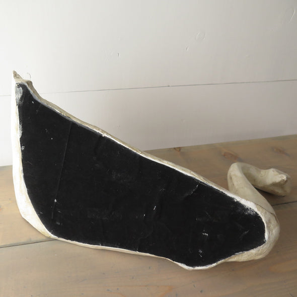Painted Carved Wood Swan bottom