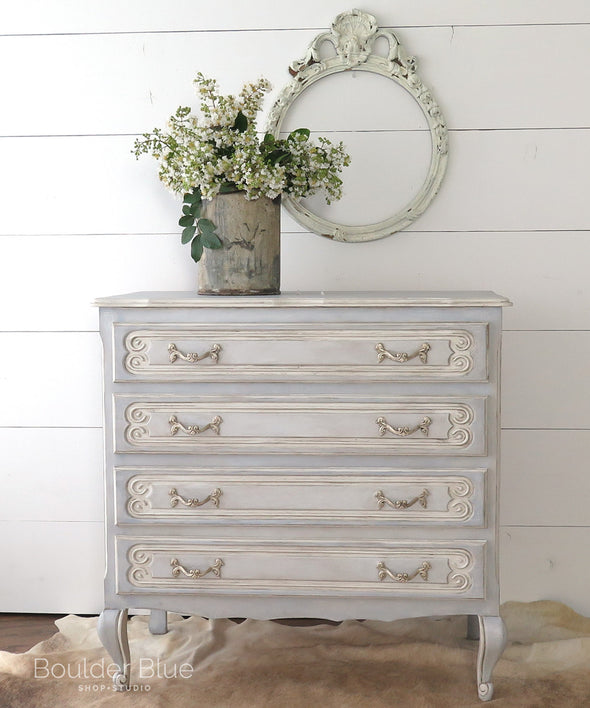 Vintage Painted French Dresser