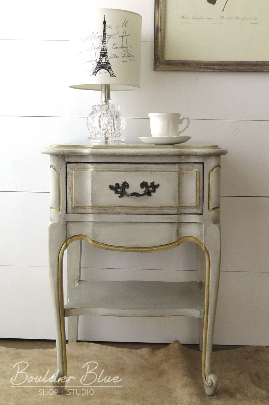Vintage Painted French Provincial Nightstands