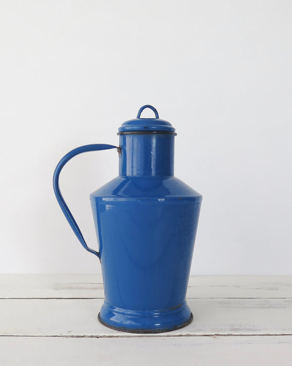 Hungarian Blue Enamelware Pitcher Small