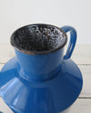 Hungarian Blue Enamelware Pitcher Small close up