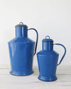 Hungarian Blue Enamelware Pitchers