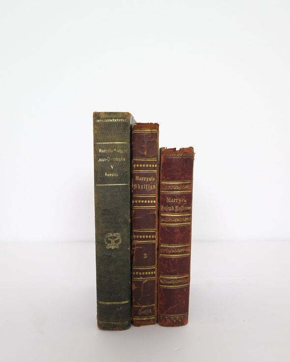 Antique Danish Books, Set of 3