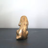 Vintage Brass Cocker Spaniel Dog back view