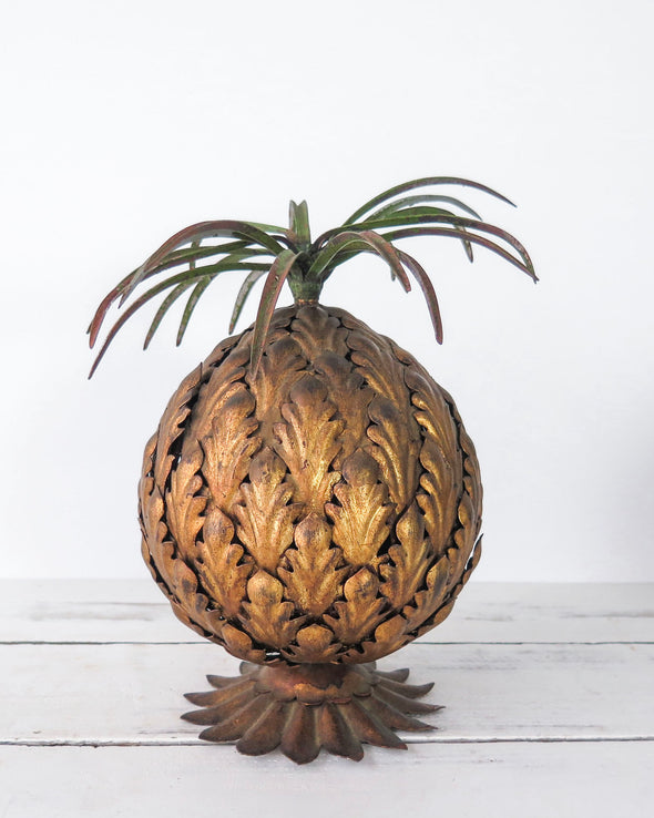 Vintage Brass Pineapple