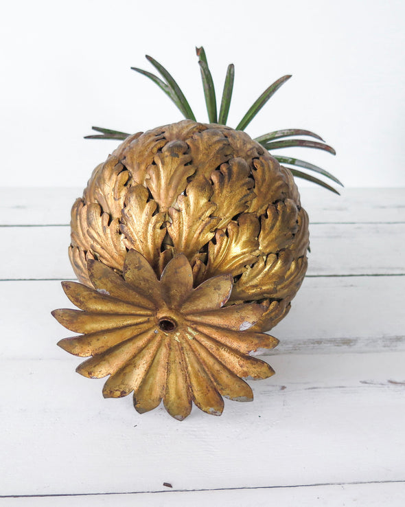 Vintage Brass Pineapple closeup