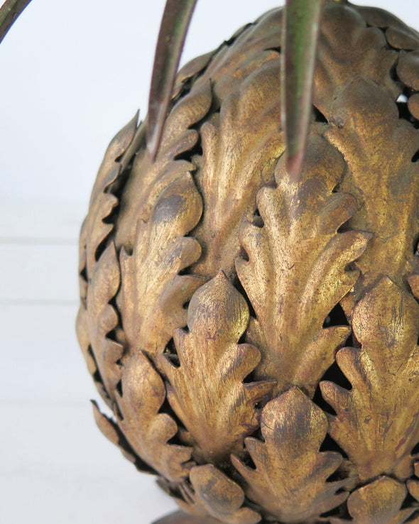 Vintage Brass Pineapple bottom