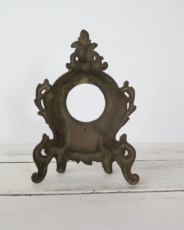 back view of clock frame