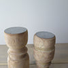 Reclaimed Rustic Wood Candle Holders top