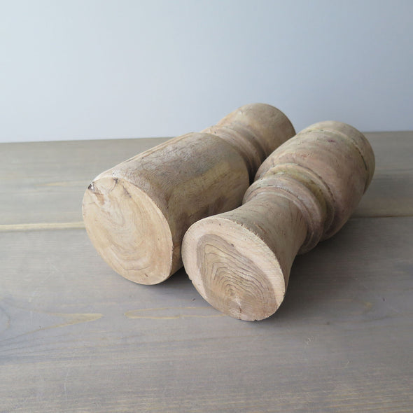 Reclaimed Rustic Wood Candle Holders bottom