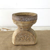 Reclaimed Candle Holder with Carved Design