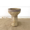 Reclaimed Candle Holder with Carved Design side view