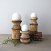 Rustic Candle Holders Set of 3