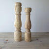 Large Reclaimed Wood Candle Holders