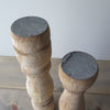 Large Reclaimed Wood Candle Holders  top