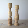 Pair Reclaimed Wood Candle Holders