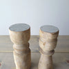 Reclaimed Wood Candle Holders tops
