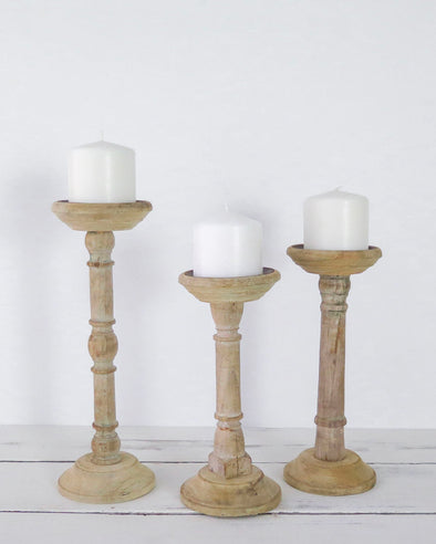Baluster Candle Holders, Set of 3