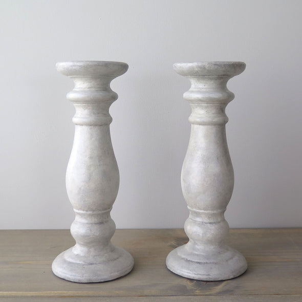 Scandi Style Candle Holders a Pair