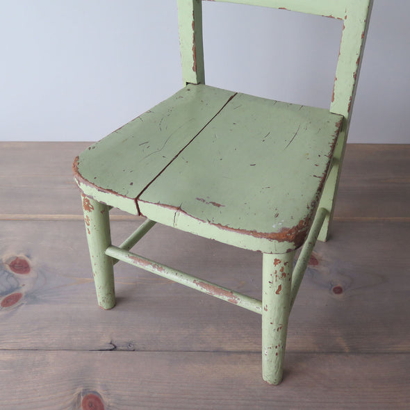 vintage childs chair seat