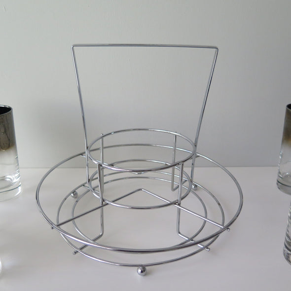 Mid Century Silver Fade Cocktail Set