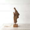 Teak Driftwood Sculpture side view