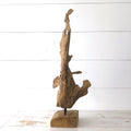 Driftwood Sculpture on Stand side