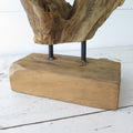 Driftwood Sculpture on Stand close up