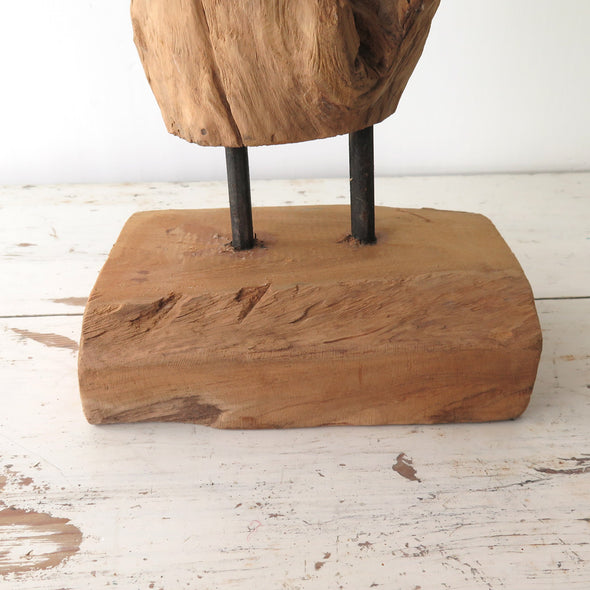 Teak Driftwood Sculpture base