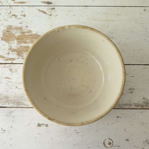 Antique Cream Mixing Bowl  inside