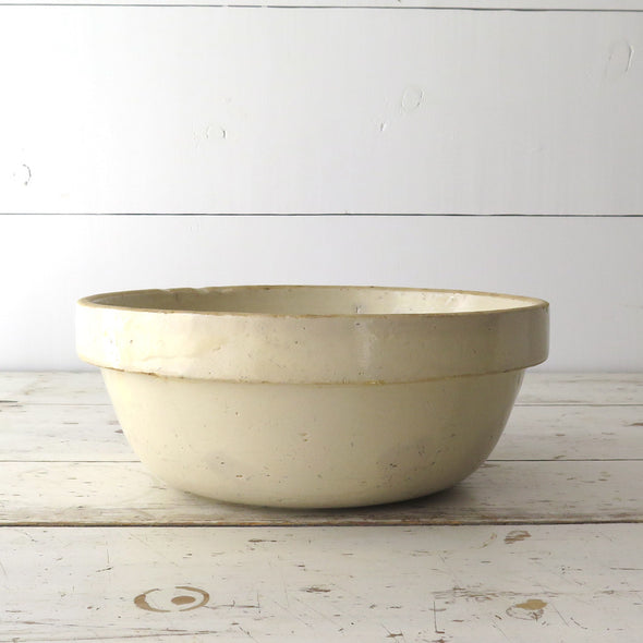 Antique Cream Mixing Bowl