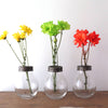 Glass Vases with Metal Flower Frog Lids