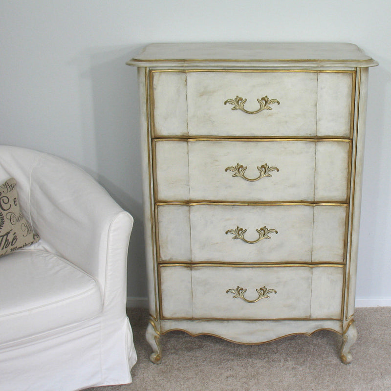 French Provincial 4 Drawer Chest