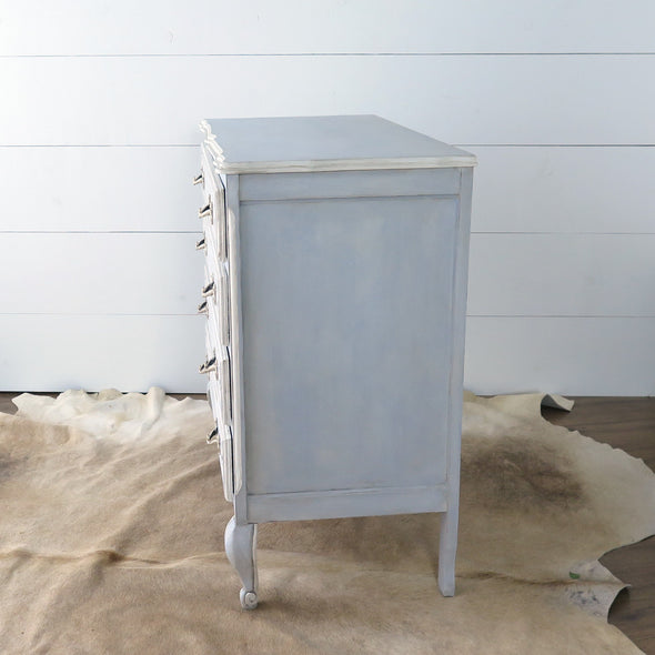 Vintage Painted French Dresser side view