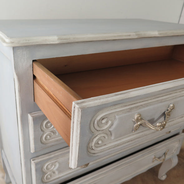 Vintage Painted French Dresser inside drawer