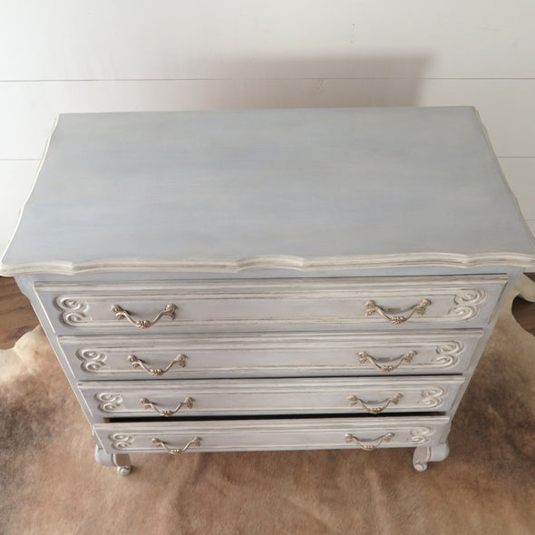 Vintage Painted French Dresser top view