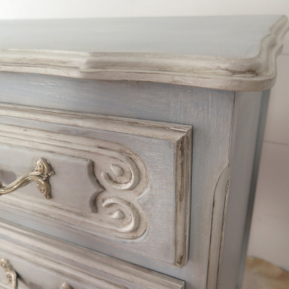 Vintage Painted French Dresser close up