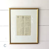 Antique Framed French Documents