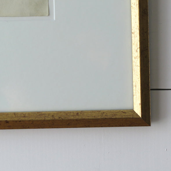 Antique Framed French Documents frame close up