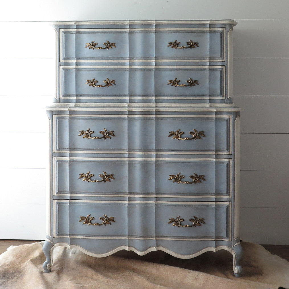 French Provincial Chest on Chest Highboy – BoulderBlueStudio