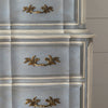 Painted French Provincial Highboy Chest on Chest close up