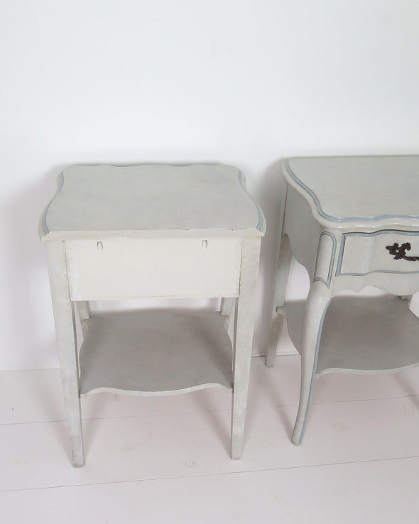French Provincial Nightstands  back view