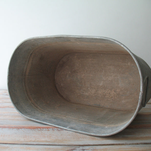 Vintage Galvanized Tub inside view