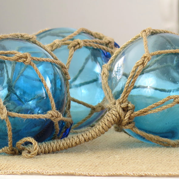 Japanese Blue Glass Floats Reproduction