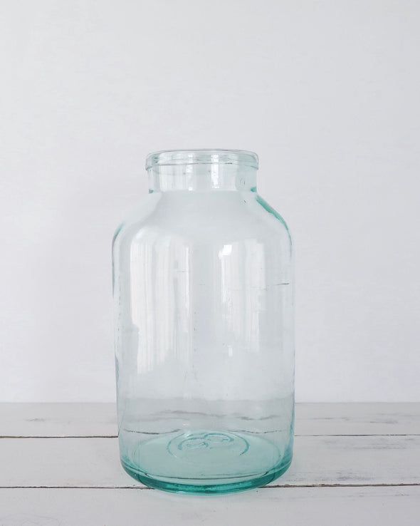 Vintage Hungarian Hand Blown Glass 8 L Jar