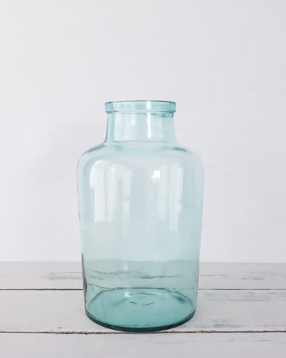 vintage blue 5 L glass jar