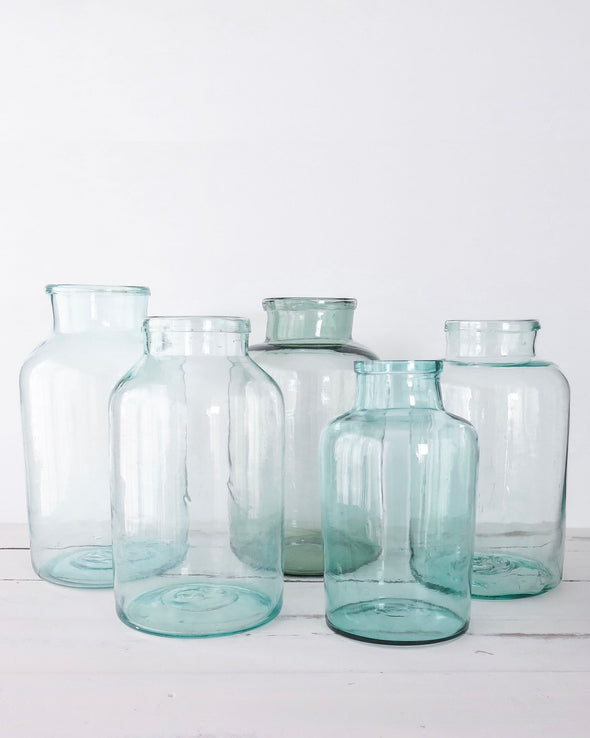 Vintage Hungarian Hand Blown Glass Jars