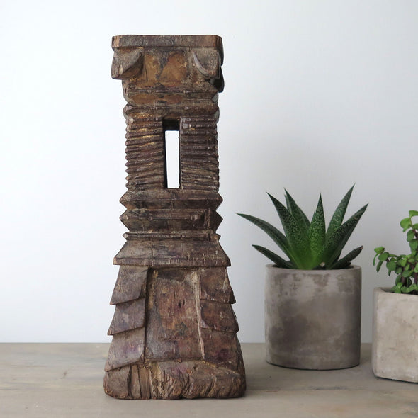 Vintage Indonesian Wood Relic