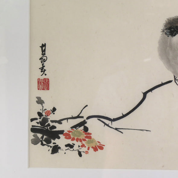 Vintage Japanese Watercolor close up