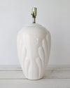 Vintage Art Deco Style Ceramic Shell Lamp side view